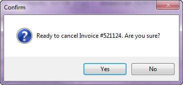 cancel invoice credit memo