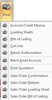 printing invoice documents