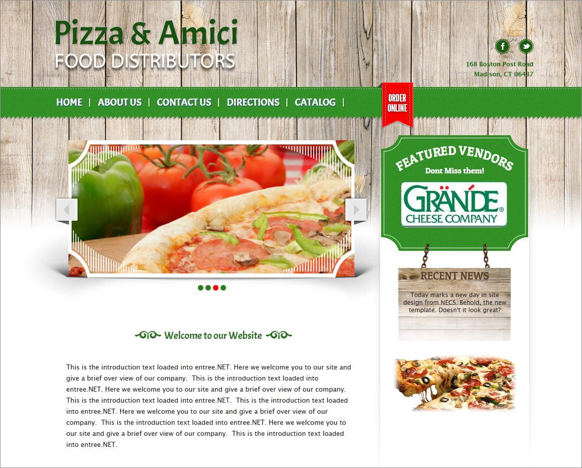 Entre Online Food Distributor Software