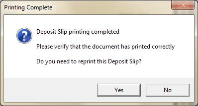 Printing Deposit Slips