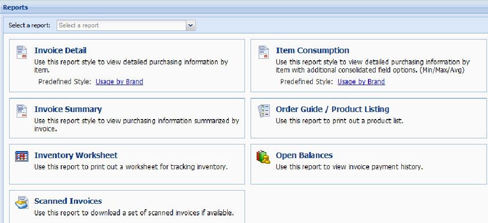 EntréeNET Report Styles - Open invoice report